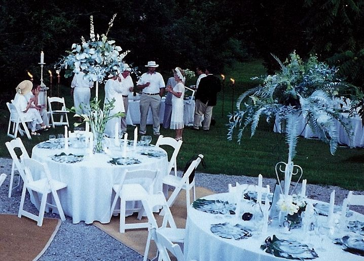 This Is A White Party Early May Often Offers Perfect Days For Outdoor Entertaining Event Was Held In The Back Yard And